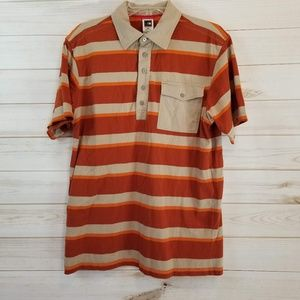 The North Face men's striped polo shirt size M